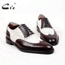Cie zapato de punta redonda para hombre, suela de 100% auténtica hecha a mano, a medida, oxford, transpirable, ox438