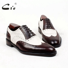 Free shipping custom handmade genuine calf leather mens oxford shoe color brown No.OX224 GOODYEAR CRAFT
