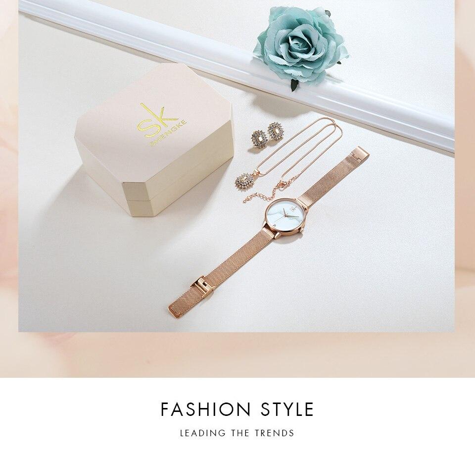_08 Montres cristal bijoux ensemble pour femmes