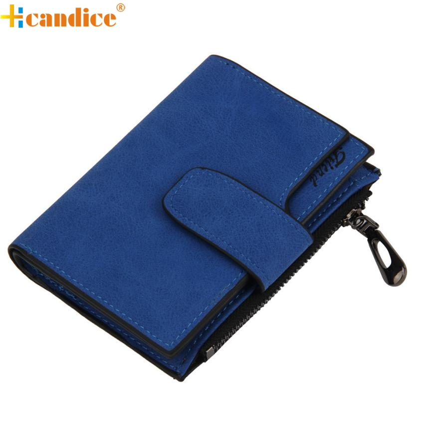 Hcandice Best Gift Wholesale Hcandice Women Mini  Grind Magic Bifold Leather Wallet Card Holder Wallet Purse Jan19 harajuku skinny pencil jeans new women fashion slim mid waisted casual holes skinny pencil jeans