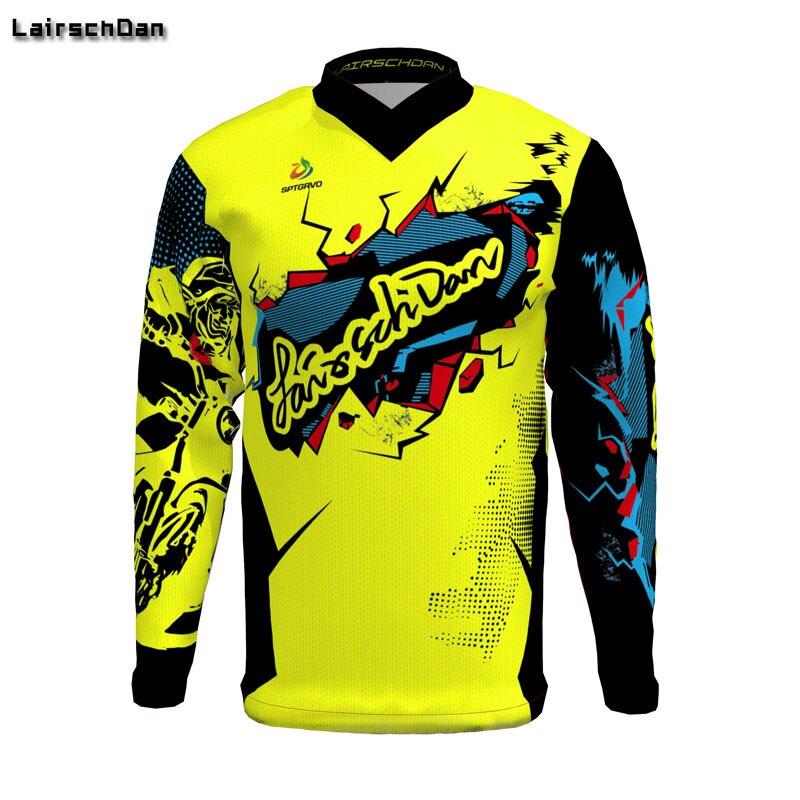 Mens Cycling Jacket Long Sleeve Jersey Coat MTB Bike Motocross Shirt Team New
