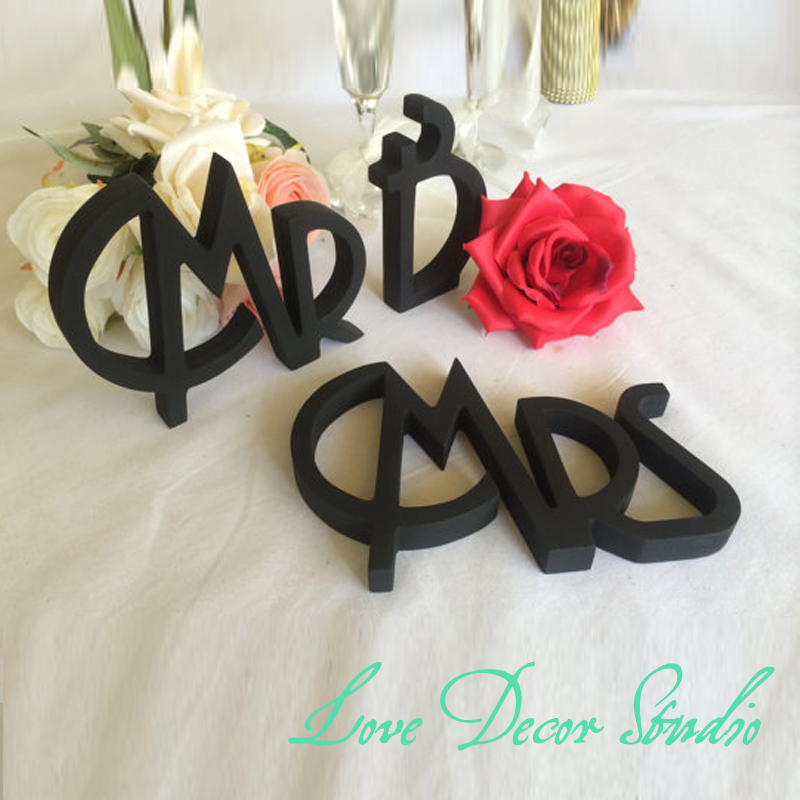 Free shipping Gatsby style wedding sign Mr & Mrs. Mr Mrs sign for wedding table decoration. Signage Mr and Mrs