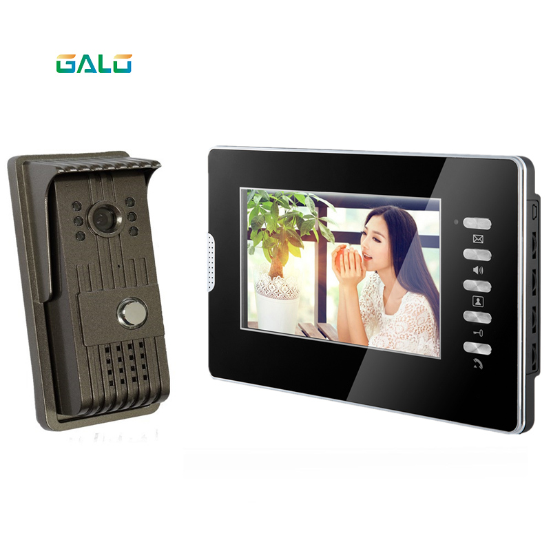 Acrylic Video Door Phone for villa outdoor intercom night vision 7inch indoor monitor doorbell camera 1v1 intercom systemAcrylic Video Door Phone for villa outdoor intercom night vision 7inch indoor monitor doorbell camera 1v1 intercom system