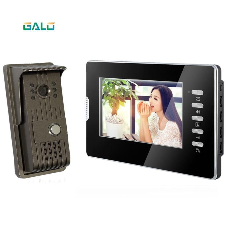 Acrylic Video Door Phone For Villa Outdoor Intercom Night Vision 7inch Indoor Monitor Doorbell Camera 1v1 Intercom System