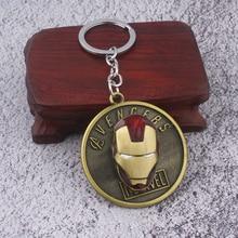 RJ Iron Man Keychains Avengers Arc Reactor Mask Key Chains L