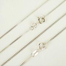 18fcba78fc68 100% puro de Plata de Ley 925 Collar de plata para las mujeres los hombres