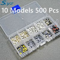 10 Models 500 Pcs Tactile Push Button Switch Micro Switch For Car Remote Control Maintenance Button