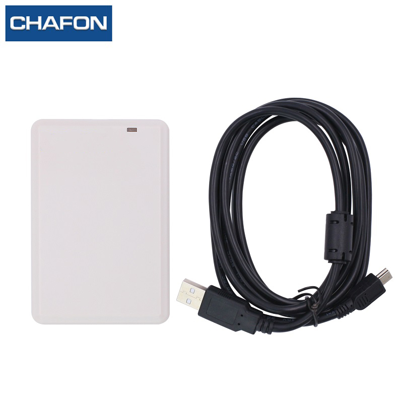 usb uhf rfid card reader writer with complete English SDK for logistics management with free sample card