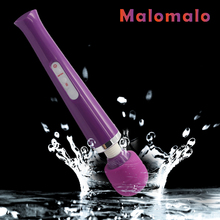 10 Function USB Rechargeable vibrators Magic AV Wand Massager Silicone Waterproof g spot Clitoris realistic sex toy for women