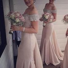Pink Cheap Bridesmaid Dresses Under 50 Mermaid Off The Shoul
