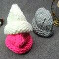 2016 de Invierno Nueva Moda Para Mujer de Color Sólido Gorro de Lana Gruesa mujer Caliente Sombreros Gorro de Punto Casual Caps Toucas Para Hombres mujeres