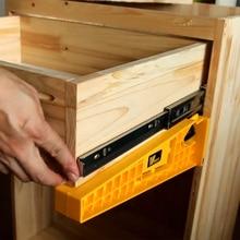 Ne 2 pçs gaveta pista instalação gabarito suporte de posicionamento auxiliar gaveta slide gabarito montagem gabinete ferramentas para trabalhar madeira