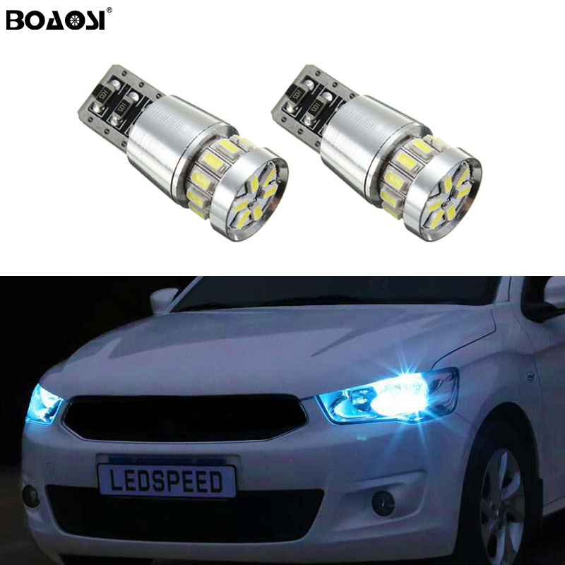 2x <font><b>T10</b></font> 3014 <font><b>SMD</b></font> <font><b>18</b></font> LED W5W Parking Lamp Clearance Light For Hyundai solaris accent i30 ix35 i20 elantra santa fe tucson getz image