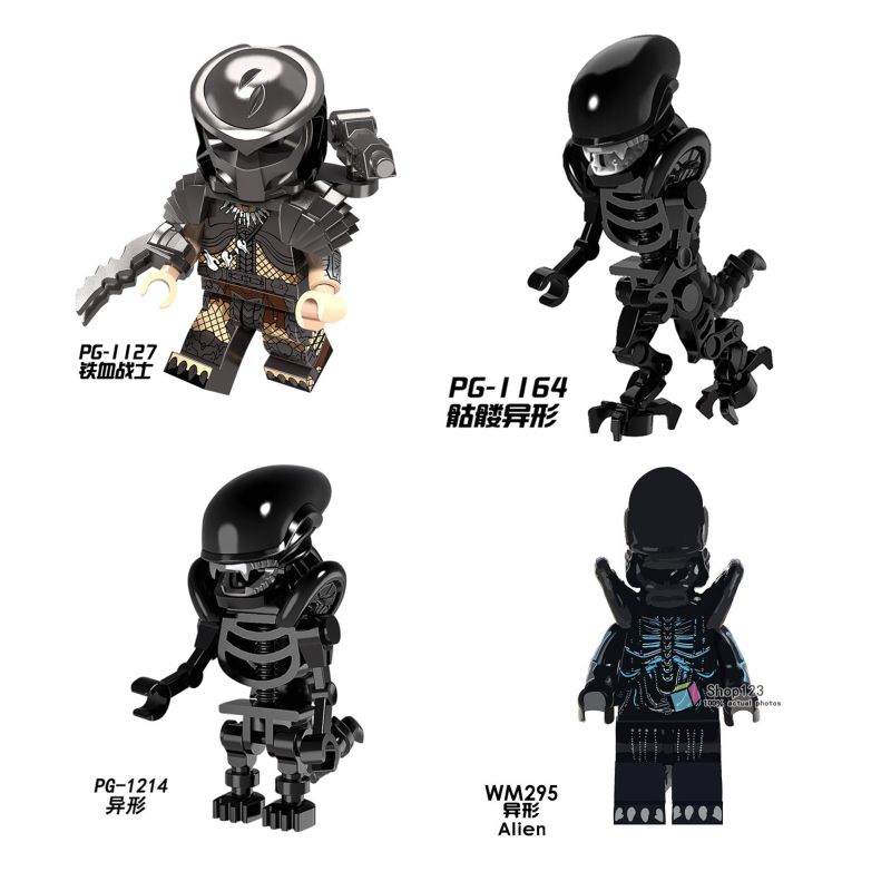 Blocks Single Sale Building Blocks Alien Vs Predator Spiderman Movie Legoings Technic Figures Et Beast Bricks Toys For Children Friends Attractive Fashion Toys & Hobbies