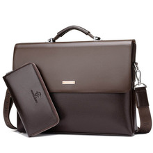New Arrival Brand Business Men Briefcase PU Leather Laptop Briefcase Ba