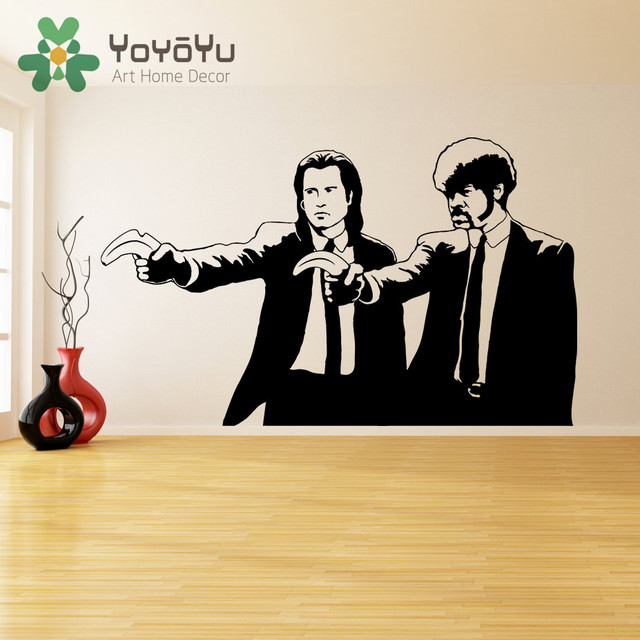 Banksy Style Pulp Fiction With Banana Wall Art Sticker Decals Ebay ...