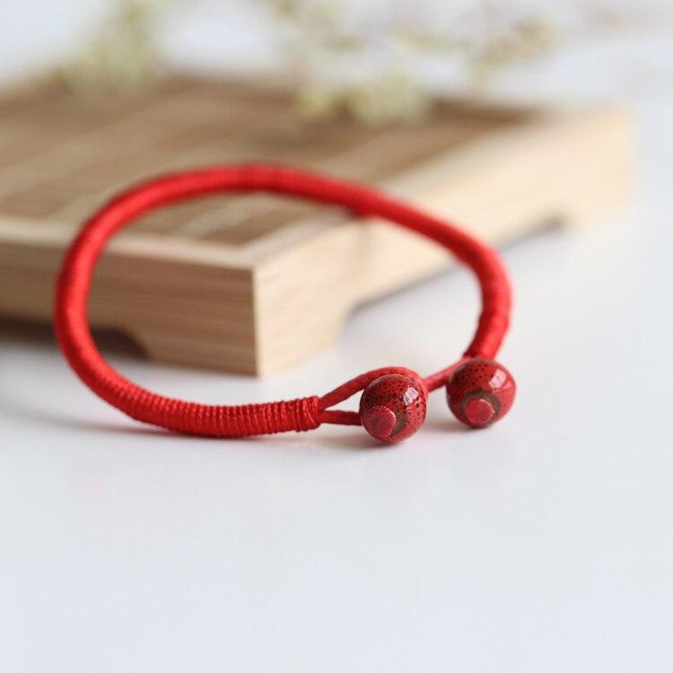 2 Teile / los Mode Roten String Armband Keramik Handgemachte - Modeschmuck - Foto 2