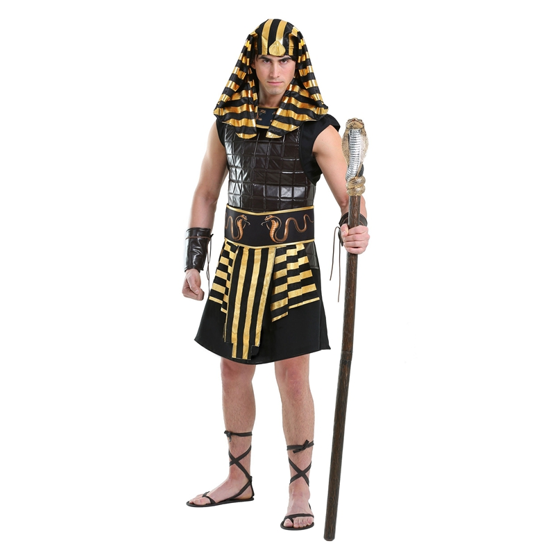 Extravagant Adult Man King Of Ancient Egyptian Pharaoh Tut Historical Halloween Party Costumes