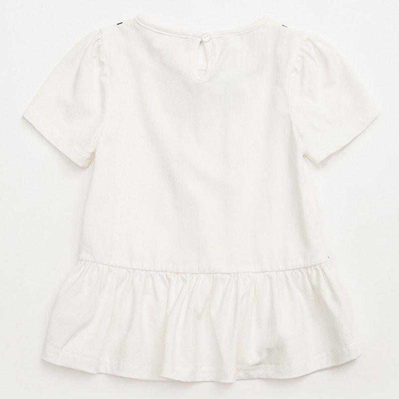 Dziewczynek bluzka Top Biała dziewczynka bluzka 2018 Letnie na co - Ubrania dziecięce - Zdjęcie 2