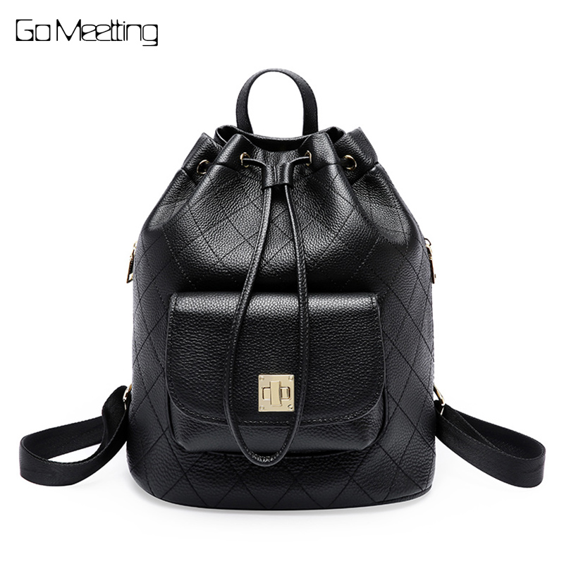 Simple Style Backpack Women Genuine Leather Backpacks For Teenage Girls School Bags Fashion Diamond Lattice Black Shoulder Bag юбка love republic цвет мятный 8151164202 19 размер 42