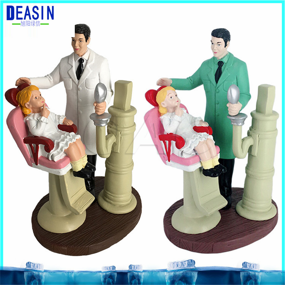 Dental cartoon character model Couple Sculpture Dental Clinic Decoration Furnishing Articles Creative Artwork animation character angel table decoration model toy