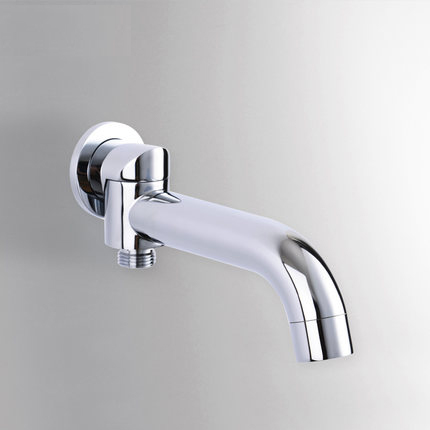 Modern Water Spout Mouth Pipe Connector 2 Function Switcher Brass