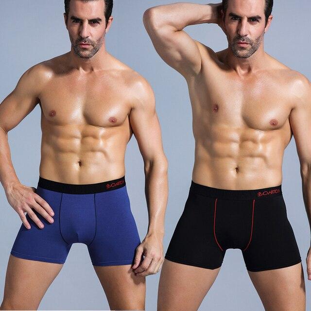 BONITOS Marca Ropa interior masculina 4 unids/pack Boxers algodón Cueca 365 chevaliere calzoncillos hombres pantalones cortos ropa interior bragas largas