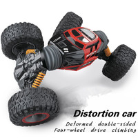 RC Car 4WD Truck Scale Double Sided 2 4GHz One Key Transformation All Terrain Vehicle Varanid