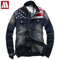 2018 Men Denim Coat Men's Cotton Washed Jackets Mens Coats blue denim jacket fashion casual jackets free shipping Asia S XXXL