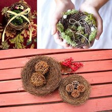 Useful Creative 1Pc Decoration Prop Bird Nest Bird Cage Creative Marriage Proposal Wedding Photography Props(China)