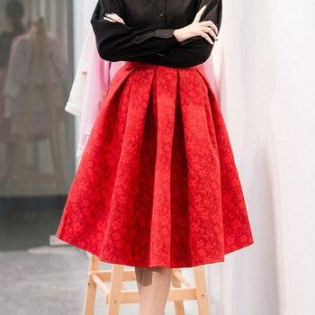 Faldas de Estilo Vintage para mujer, Faldas por debajo de la rodilla de cintura alta, Ropa de Trabajo, moda americana, vestimenta falda femenina, 2021