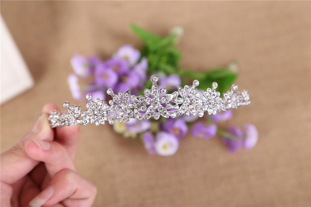 3 Designs Fashion Crystal Wedding Bridal Tiara Crown For Women Prom Diadem Hair Ornaments Wedding Bride hair Jewelry accessories 6