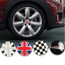 4pcs 56mm Car Wheel Center Hub Cap Stickers Badge Emblem Cover for MINI Cooper S JCW One + R56 R60 R61 F54 F55 F56 F60 Accessory