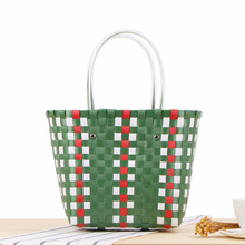 Creative Multicolor Braided Plastic Tote Bag
