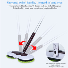 Mops Floor Cleaning Mop Easy Bucket Dust Magic & Microfiber Electric Broom Rotating Superfine Fiber