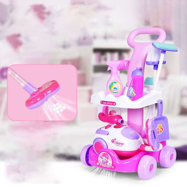 Children's Set Home Simulated Carriage Cleaning Tool Vacuum Cleaner Small Home Appliances Toys Tremble Small Toys 4