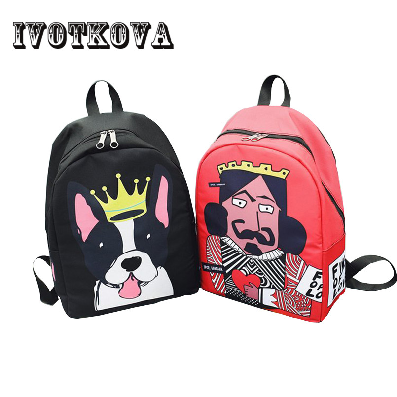 IVOTKOVA Brand Teenage Backpacks for Girl Boy Backpack Travel Bag Women Large Capacity brand Bags For Girls MochilA