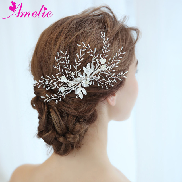 Factory Direct Wedding Barrettes Beads Tubular Branch Bridal Hair Grips Beach Accessories Clip