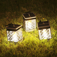 Outdoor LED Solar Lamps 8 LEDS 2835SMD Waterproof IP55 Portable LED Solar Candle Lights Solar power Garden lantern decoration