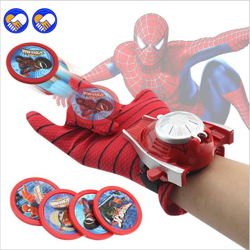 En leksak En dröm Typer PVC 24cm Batman Glove Action Figur Spiderman Launcher Toy Barn Passande Spider Man Captain America Cosplay