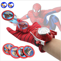 A toy A dream Types PVC 24cm Batman Glove Action Figure Spiderman Launcher Toy Kids Suitable Spider Man Captain America Cosplay