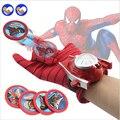A toy A dream Types PVC 24cm Batman Glove Action Figure Spiderman Launcher Toy Kids Suitable Spider Man Captain America Cosplay