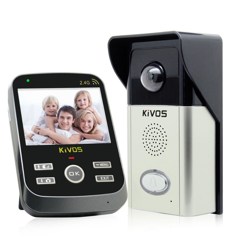 Kivos 2.4G 3.5 Inch TFT Color Display Wireless Video Door Phone Intercom Doorbell Home Security Camera and Monitor 3 5 inch tft color display monitor 1 camera wireless video doorbell video door phone intercom system