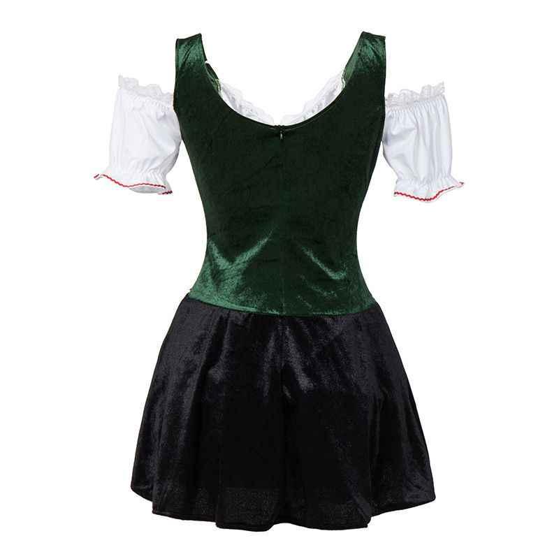9f93eed2a64 ... Sexy Mini Dress Plus Size Halloween Maid Dress German Women Dirndl Dress  Cosplay Oktoberfest Beer Girl