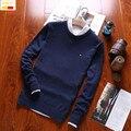 Szyid nuevos polos informal suéter hombres famosa marca solid jerseys O-cuello de algodón de manga larga de otoño más el tamaño de los hombres suéteres S0028