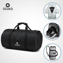 OZUKO Multifunction Large Capacity Men Travel Bag Waterproof Duffle Bag for Trip Suit Storage Hand Luggage