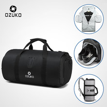 OZUKO Multifunction Large Capacity Men Travel Bag Waterproof Duffle Bag for Trip Suit Storage Hand Luggage Bags with Shoe Pouch(China)