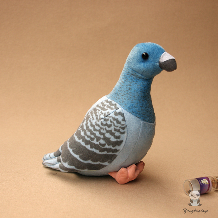 Children'S Toys Birthday Gifts Simulations Cute Birds Rock Pigeons Dolls Stuffed Animals Plush Toy Kawaii Shops kawaii pvc flocked dolls furry animals cars and desk decorate cute dolls exquisite collection flocking toys gifts for new year