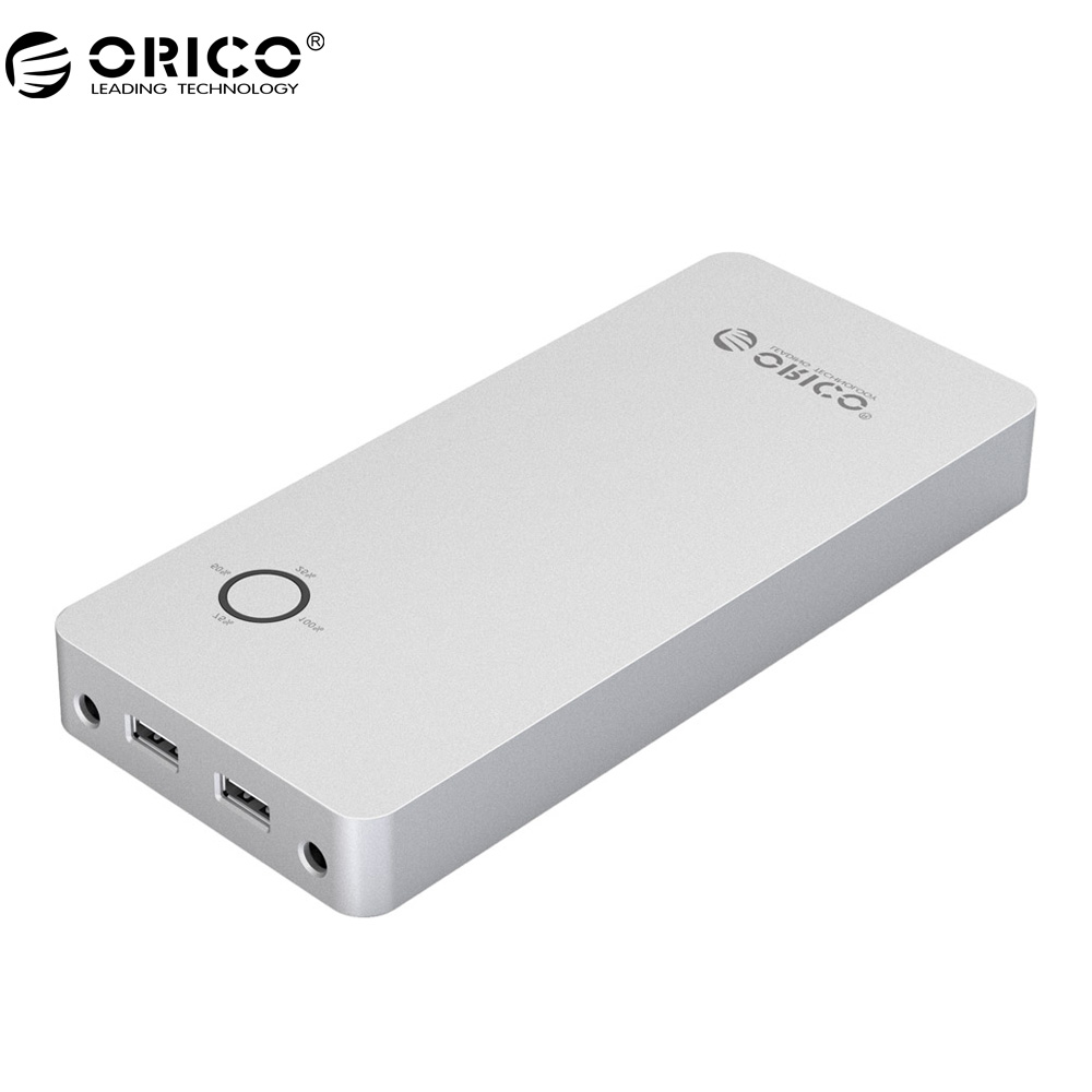 ORICO 18000 mAh Power Bank Voor Laptop Aluminium Dual USB Uitgang Een DC 12/15/19 V poort Notebook Power Bank