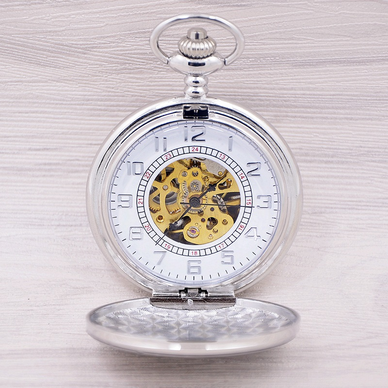2017 New Fashion Analog Men Watch Mechanical Pocket Watch With Necklace Chain Steampunk Hand Wind Pocket Watch Relogio Masculino old antique bronze doctor who theme quartz pendant pocket watch with chain necklace free shipping